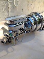 "Mopar 8"" dual power brake booster chrome master cylinder 4 wheel disc brakes"