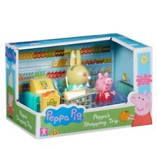 Peppa Pig Peppa's Shopping Trip Playset With 2 Articulated Figures Toy Playset