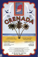 GRENADA VINTAGE POSTAGE STAMP WATER POLO ART PRINT POSTER PICTURE BMP1693A
