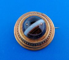 & Agate Brooch Classy 14k Yellow Gold