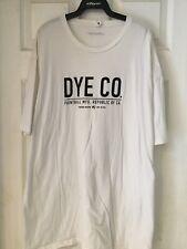 """Dye Paintball """"DYE CO."""" T-Shirt - White W/ Black Logo- 3XL"""
