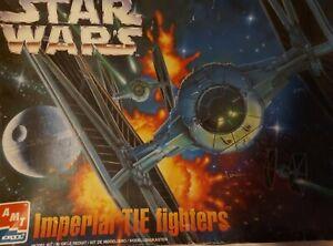 AMT Ertl Star Wars Imperial Tie Fighters.