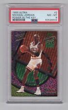 1993 Fleer Ultra Michael Jordan Power In The Key Insert #2 PSA 8