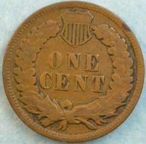1880 Indian Head Cent Vintage Penny Old US Coin Good G to VG Very Good Fast S&H