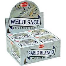 120 Cones Hem's WHITE SAGE Incense (12 x 10-Cone Boxes)!