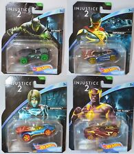 4x Hot Wheels DC Universe Injustice 2 - Batman, Superman, Supergirl, the Flash