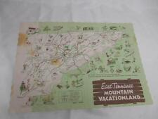 Old Vtg EAST TENNESSEE MOUNTAIN VACATIONLAND PLACEMAT Advertising Souvenir