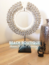 Tribal shell boho decorative necklace with stand