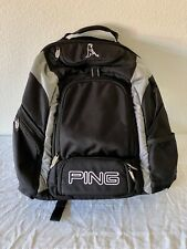 New listing Ping Golf Backpack Ping Man Logo Multiple Pockets Padded Back And Straps Clean