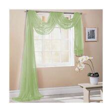 Rideaux et cantonnières écharpe verte pour la maison