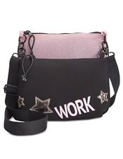 IDEOLOGY 2 In 1 CROSSBODY Pink / Black Work Bag Purse - $59.50 - NWT