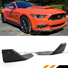 For 2015-2019 Ford Mustang MD Style Front Bumper Chin Spoiler Winglet Splitters