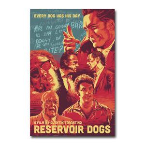 Reservoir Dogs Silk Canvas Fabric Movie Poster Wall Art Home Decor Print  24x36