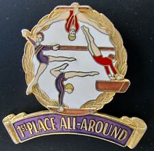 Gymnastics Gymnast 1st First Place All Around Souvenir Award Lapel Pin New