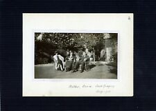 Vintage photo - enjoying the garden, Mother, Annie & Jack, charming! 1932
