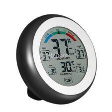 Black Adjustable Calibration Digital Hygrometer & Thermometer Monitor US