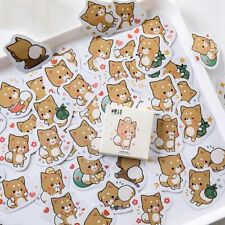 45Pcs Kawaii Cute Dog Stickers Lovely Adhesive Paper Stickers Kids Diary Sticker