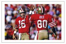 JOE MONTANA JERRY RICE SAN FRANCISCO 49ERS SIGNED PHOTO AUTOGRAPH PRINT FOOTBALL