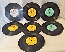 """Lot of 7 Records Peter Pan Orchestra Chorus Songs Story Vintage 78 RPM Child 7"""""""