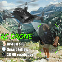 Wifi Drone 2K HD Kamera Recording Drohne Smart Geste Fotografieren Follow Me