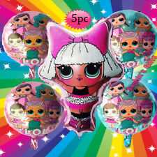 5PC LOL SURPRISE DOLL BIRTHDAY PARTY BALLOON BALLOONS PINK BABY GIRL SUPPLIES