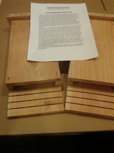 A set of two Handmade Cedar Single Chamber Bat House Made in USA.