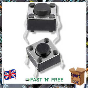 Momentary TACT PCB Mount Switch Push Button 6x6x5mm
