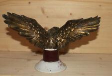 Vintage hand made beonze eagle figurine with porcelain pedestal
