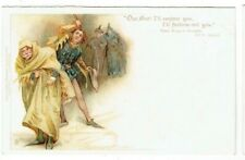 OLD CHROMO LITHO POSTCARD MERRY WIVES OF WINDSOR TUCKS SHAKESPEARE SERIES NO.475