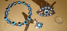 Lot of 4-Evil Eye JEWELRY Good Luck & Protection Spiritual Gift