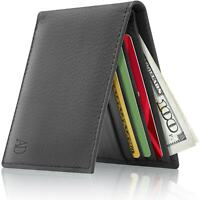 Brand New Leather Slim Wallet For Men Bifold Wallet With ID Window RFID Blocking