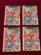 1992-93 Upper Deck MICHAEL JORDAN #453 In Your Face Lot x4 Chicago Bulls (DC24)