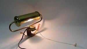Klavierlampe Klemmlampe Regallampe Messing '40er Jahre