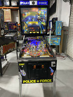 Police Force  Pinball Machine Williams Coin Op 1989 LEDs Free Ship