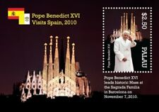 Palau- Pope Benedict XVl Visits Spain Stamp- Souvenir Sheet MNH