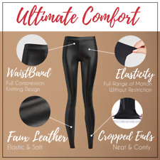 💗Stretch Fit Black Faux Leather Legging with Elastic Waist *Sz XS/S*