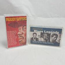 2 Classic Blues Cassette Tape Lot Muddy Waters Solo Album Legends Compliation