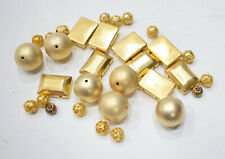 Beads Assorted Matte and Filgree Gold Beads 9-20mm