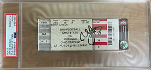 Chase Young Ohio State Buckeyes Autographed Ticket Stub OSU VS UM PSA/DNA Cert