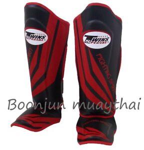 Fairtex Muay Thai Shin Pads S10 Shin Guards Spirit Black Red Kick Boxing