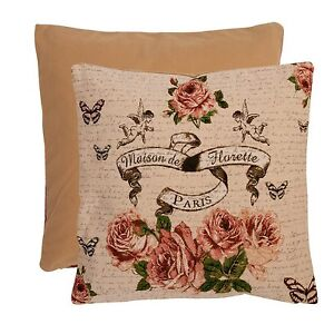 Pillowcase Pillow Cover Roses Angel Shabby Chic 15 11/16x15 11/16in Nostalgia