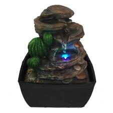 SereneLife Indoor Outdoor 3-Tier Waterfall Electric Water Fountain Decor W/ LEDs