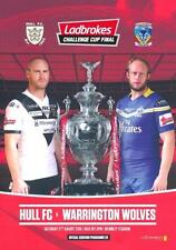 * HULL FC v WARRINGTON WOLVES 2016 RUGBY LEAGUE CHALLENGE CUP FINAL PROGRAMME *