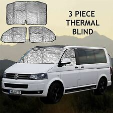Volkswagen VW T5 INTERNAL THERMAL BLINDS Interior Blind KIT 3 PIECE WINDOW 02-15