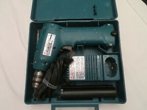 MAKITA CORDLESS DRILL WITH FAST CHARGER CARRY CASE MODEL 6010D w/ 2 BATTERIES