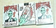 3 Bicycle Zombie Playing Cards for Halloween or Great Rare Collection