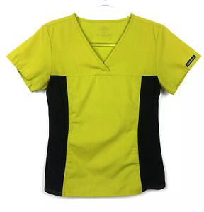 Cherokee Flexibles Green Front Pouch Scrub Top Women's Size XS