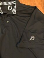 FootJoy FJ Mens Navy Blue Polo Golf Shirt Mens Size Large L EUC