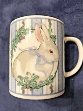 George Good Fabrizio Bunny Rabbit Coffee Mug Raspberries Blackberry 1986