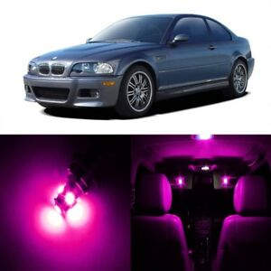 16 x Pink LED Interior Light Package For 1999 - 2005 BMW 3 Series M3 E46 + TOOL